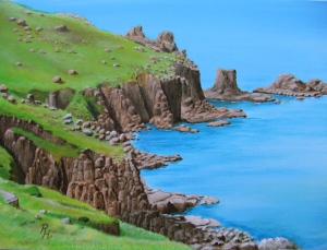 seascape with cliffs
