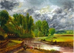 acrylic painting of stratford mill after john constable