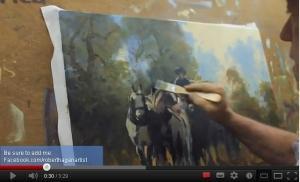 Robert Hagan paints light rays