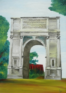 arch erected in honour of emperor Titus