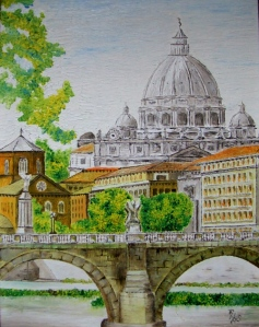 oil painting of St.Peter in Rome