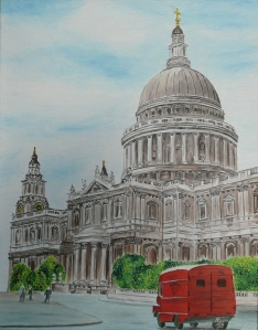 oil painting of St. Paul´s in London