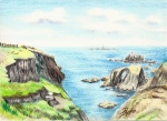 Cliffs near Lands End, Cornwall