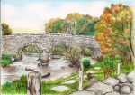 drawing of Postbridge Dartmoor, Devon