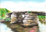 Clapper Bridge at Postbridge, Dartmoor