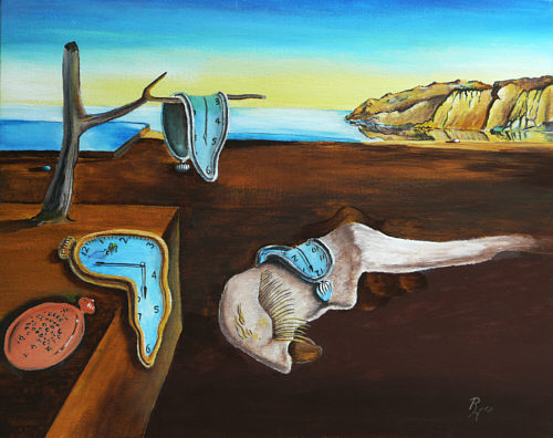 Salvador Dali The Persistence Of Memory Oil Painting