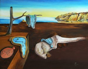 acrylic painting after Dali