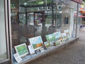 cultural window of the town of Essen in Germany