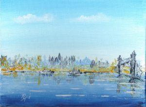 London seen across the river Thamse
