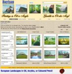 paintings of parks and lakes