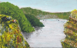 painting of the river Dart estuary