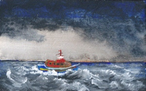 boat in heavy seas