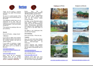 leaflet for ArtSurprise box