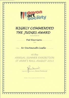Auszeichnung für den Maler Rainer Hillebrand alias Pat Harrison