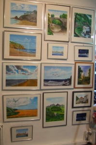 paintings at the gallery