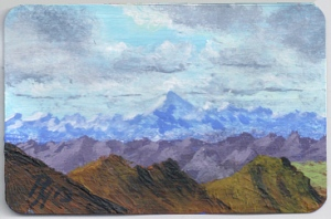 Andes mountains painted by Pat Harrison