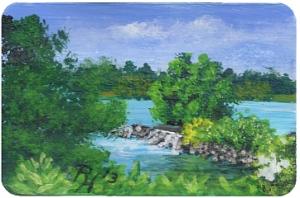 Gemälde der Ruhr Wasserfälle bei Hattingen von Rainer Hillebrand alias Pat Harrison