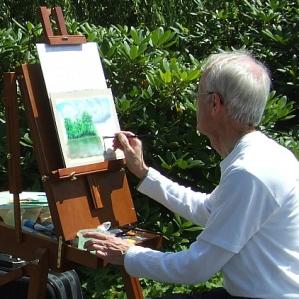 Kunstmaler Rainer Hillebrand alias Pat Harrison