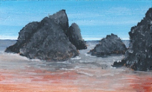 granite rocks painted by Pat Harrison