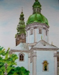 Rococo Basilica painted by Pat Harrison