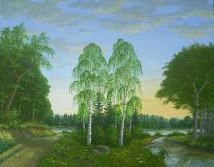 landscape painting by Peter Kempf